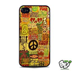 Abstract Typography Peace iPhone SE Case