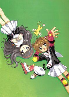 Cardcaptor Sakura | CLAMP | Madhouse / Kinomoto Sakura, Daidouji Tomoyo, and Keroberos (Kero-chan)