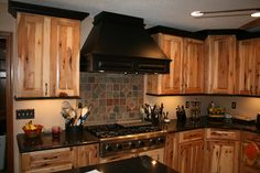 Knotty pine cabinets