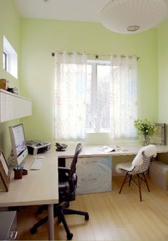 Jennifer's Home Office Silver Lining Redux