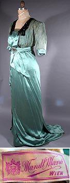 circa 1912 Mandl Mano Wien Silk Dress