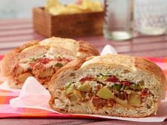 Mexican Chorizo and Potato Pressed Sandwich Recipe : Food Network Kitchen : Food Network Mexican Sandwich, Chorizo And Potato, Pressed Sandwich, Mexican Chorizo, Sandwich Recipes, Slider Recipes, Refried Beans, Wrap Sandwiches, Party