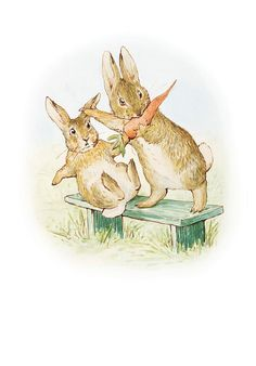 "The Story of a Fierce Bad Rabbit by Beatrix Potter - He doesn't say ""Please."" He takes it!/ Seeing sketches of accordion book even better--go to The Morgan Library now!"