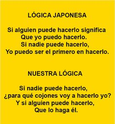 . La lógica japonesa vs. nuestra lógica .
