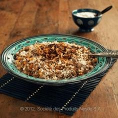 Lentil Rice with Meat & Carrots - Arabic