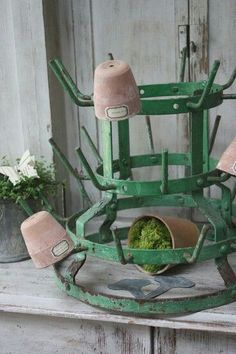 Beautiful green drying rack.....