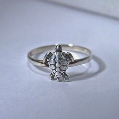TURTLE ring sterling silver on Etsy, $19.99