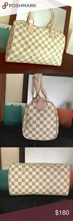 💕Vanilla Speedy Bag💕 Brand New. PRICE Reflects authenticity❤️it is the small size not super smaller it not the really big one. Great condition, I accept offers only through offer button only! Louis Vuitton Bags Shoulder Bags