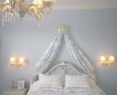 N o Sew Project! A Canopy Bed Crown!  I have  had these evey time i redecorate i make another drape like this to match new decor i never tire of them.