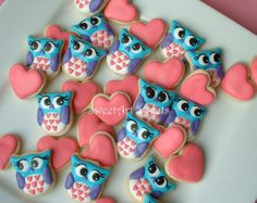 Items similar to One Dozen Owl Cookies - Bagged and Bowed on Etsy