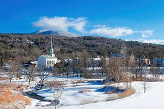 Stowe Village, Vermont by William Alexander Woodstock Vermont, South Hero, Opening A Restaurant, Haunted History, Web Design Company, Winter Scenes, New England, Artist, Outdoor