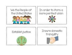 PREAMBLE TO THE CONSTITUTION FRIENDLY TERM MATCHING GAME (3RD, 4TH, 5TH GRADE) - TeachersPayTeachers.com