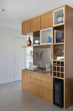 Living Room Partition Design, Room Partition Designs, Living Room Tv Unit Designs, Home Decor Kitchen, Interior Design Kitchen, Crockery Cabinet, Modern Home Bar, Kitchen Modular, Muebles Living