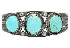 1920s Creamy Turquoise Cuff Bracelet by One Kings Lane