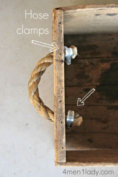 25 Creative DIY rope projects to craft at home - Craftionary Schubladen-Griff<br> Who wold have thought that a simple rope can be so crafty! Make DIY rope projects to bring nautical and modern feel to home with baskets, macrame planters. Handmade Home Decor, Diy Home Decor, Handmade Toys, Handmade Crafts, Decor Crafts, Home Crafts, Diy And Crafts, Furniture Knobs, Bedroom Furniture