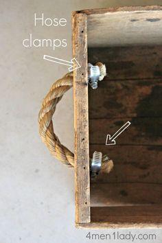 Мебельные ручки из веревки (Diy)