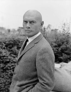 Yul Brynner (July 11, 1920 - October 10, 1985).   Russian born actor Yuliy Borisovich Briner emigrated to the United States in 1940 and later became one of the most prolific and iconic movie makers of his day.