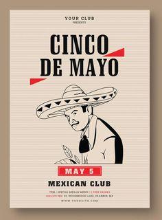 Cinco De Mayo Party Poster Template EPS, AI Party Poster, Wood Bridge, Poster Templates