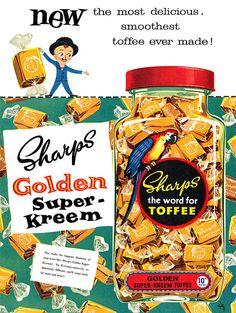 Vintage toffee ad (1950s)