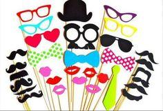32 accessoires photobooth pour mariage de missyouparty sur DaWanda.com