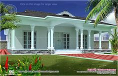 Single floor Kerala home
