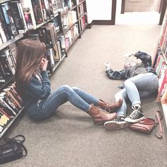 Dorcas And Marlene in the Hogwarts Library  Taken by Lily Evans