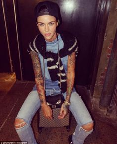 Australian actress Ruby Rose has taken Hollywood by storm in recent times. And if the latest trailer for xXx: The Return of Xander Cage is anything to go by, her rise to stardom is set to continue. Orange Is The New Black, Transgender, Australian Models, Celebs, Celebrities, Woman Crush, Me As A Girlfriend, Girl Crushes, Cute Girls