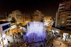 "Collaborative artistic project Pink Intruder created ""The Ekklesia Pavilion"" in the city of Valencia in Spain, where the Fallas festival took place David Moreno, Urban Intervention, Artistic Installation, Design Blog, Store Design, Cultural Events, Space Architecture, Paper Artist, Design Furniture"