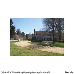 Colonial Williamsburg Home Canvas Print