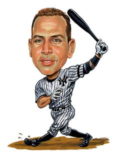 Alex Rodriguez Art Print featuring the painting Alex Rodriguez by Art