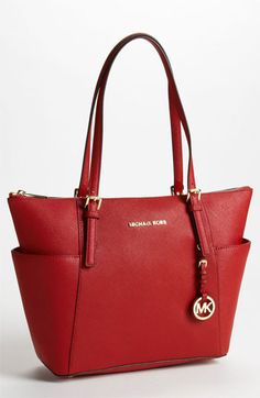 Red Tote - MICHAEL Michael Kors 'Jet Set' Leather Tote | Nordstrom