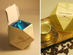 Alguém aí já viu embalagem de café mais luxuosa que essa?  Linda não é?
