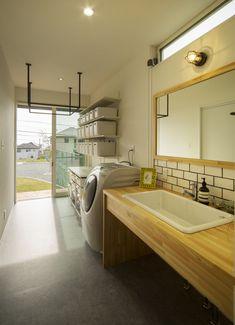 Modern Japanese Interior, Japanese Modern House, Laundry Room Bathroom, Minimal Home, Space Interiors, Modern Bedroom Design, Laundry Room Design, House Rooms, Home Deco