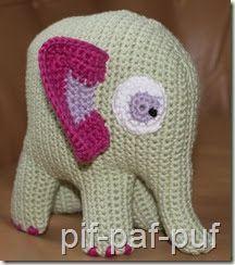 Den har været længe undervejs, men her er den , min elefant! Jeg synes den er blevet ret sød.   Den er lavet i forbindelse med Mia's ...