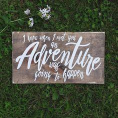 and so the adventure begins sign ring bearer sign flower girl