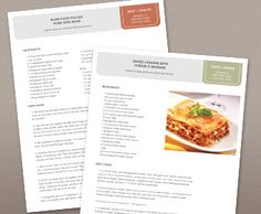 How to Create a Recipe Template | Recipes, Cookbook ideas and ...