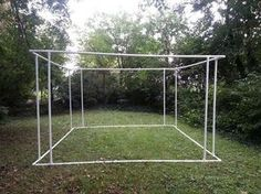 "Sukkah pvc frame (on original post). This design might be practical for a ""covered patio"" for our camp kitchen"