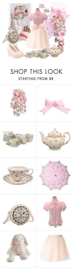 """""""lolita tea party"""" by xkitten-pokerx ❤ liked on Polyvore featuring Cultural Intrigue, cutekawaii and Moschino"""