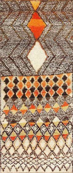 view this breathtaking Mid-Century vintage Moroccan rug 47929. This rug from Morocco is offered through the Nazmiyal collection NYC.
