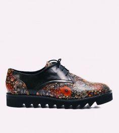 Pantofi dama de piele cu flatforma Arnia