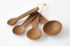 wooden measuring spoons
