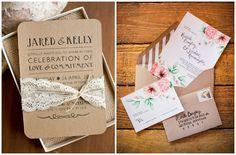 Papel Craft: uma linda opção para o convite de casamento!