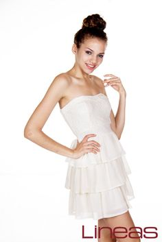 Vestido, Modelo 18513. Precio $330 MXN #Lineas #outfit #moda #tendencias #2014 #ropa #prendas #estilo #primavera #vestido