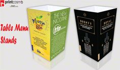 Table menu stands have the importance and provide equal convenience to either restaurant or hotel owner and to their customers and for promotional purposes. Table Tents, Menu, Ads, Creative, Menu Board Design