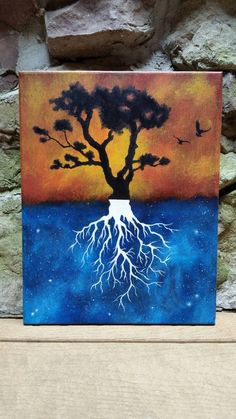 Tree of Life original abstract painting tree of by TheMindBlossom