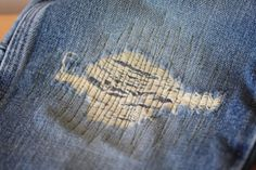 """Katie s Secret Blog: """"This is the way I have found to be the fastest, easiest, cutest way to patch jeans."""""""
