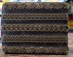 Wooden Block Brass Printing Block Vintage Textile Indian Hand carved Stamp BC-03 Wood Stamp, Block Design, Wooden Blocks, Vintage Textiles, Shibori, Printing On Fabric, Sage, Print Patterns, Hand Carved