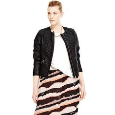 Buy the PLUS Faux Leather Quilted Biker Jacket from Marks and Spencer's range. Fashion Models, Biker, Chic, Leather, Stuff To Buy, Beauty, Beautiful, Collection, Management