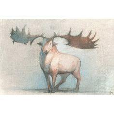 ArtWall James Thompsons Moose 2 Piece Floater Framed Canvas Set 24X32
