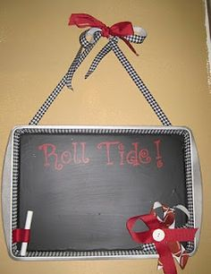 Joy in the Little Things: cookie sheet chalkboard Cookie Sheet Board, Cookie Sheet Crafts, Diy Projects To Try, Crafts To Do, Home Crafts, Homemade Gifts, Diy Gifts, Football Crafts, Craft Show Ideas